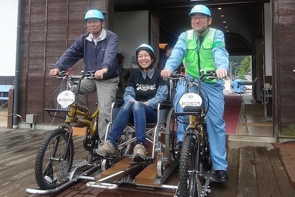 おくひだ2号(車いす特等席車両) レールマウンテンバイク Gattan Go!! - 自転車とレールで風になる、岐阜県飛騨市のロストライン・アクティビティ!から引用