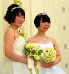 日本岩手为性少数者情侣举办模拟婚礼
