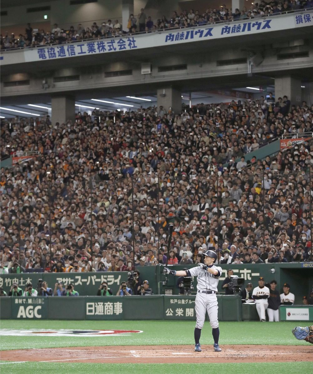 铃木一朗东京巨蛋掀旋风赞球场气氛棒