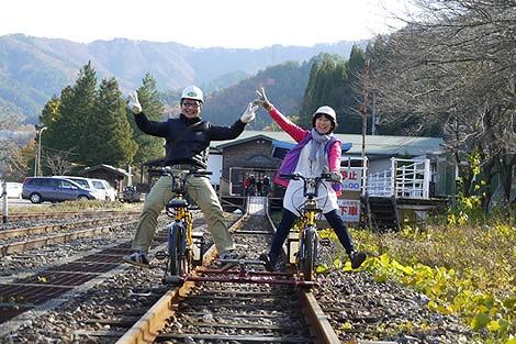 ハイブリッド車(電動アシスト車) レールマウンテンバイク Gattan Go!! - 自転車とレールで風になる、岐阜県飛騨市のロストライン・アクティビティ!から引用
