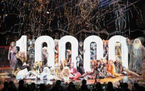 日本四季剧团音乐剧《猫》迎来第一万场演出 观众累计995万人