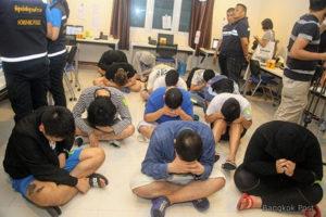 泰国警方破获诈骗机房逮捕15名日籍男子