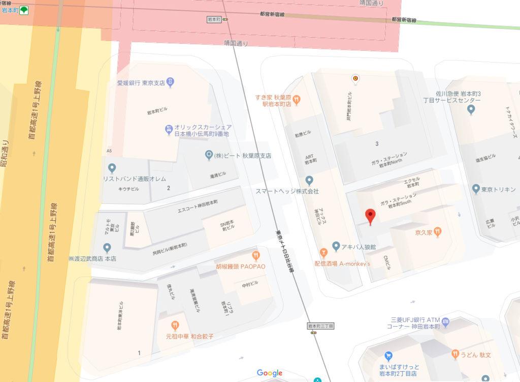 岩本町一戸建て地図