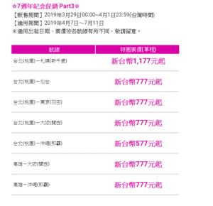 乐桃7周年促销抢机票!飞冲绳577元、东京大阪777元