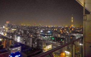 ゆったり空間で住居&オフィスに最適~東京タイムズタワー26F角部屋~ バルコニーからの夜景(東京スカイツリー方面)