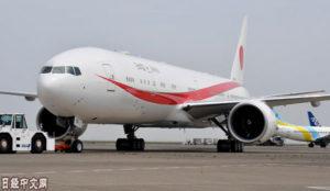 日本政府新专机首次投入使用