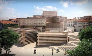 木箱叠成的博物馆隈研吾打造土耳其新地标