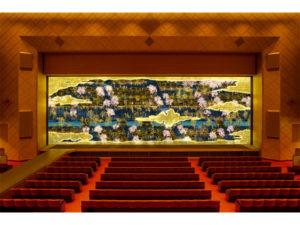 teamLab推出「随时间变化的舞台帷幕」庆祝明治座145周年!