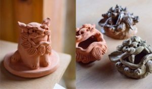冲绳必玩手作体验 手捏陶土/彩绘风狮爷