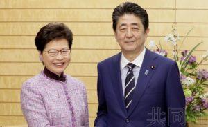 安倍会晤香港特首 要求解除福岛食品进口限制
