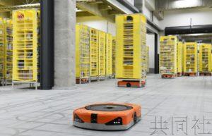 亚马逊日本最新物流据点利用机器人搬运货架