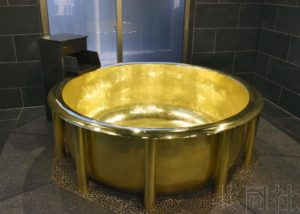 豪斯登堡打造世界最重黄金浴缸 获吉尼斯认证