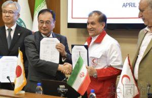 日本向遭受洪灾的伊朗提供援助物资