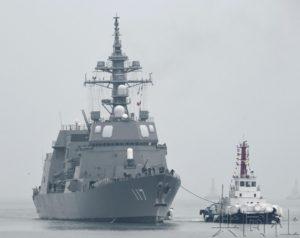 详讯:日本海自护卫舰抵达青岛 将参加国际阅舰式