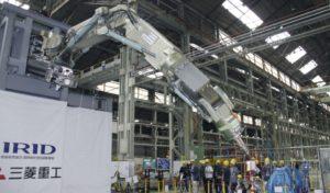 IRID展示取出福岛一核熔落核燃料的机械臂试验