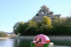 日本冈山宣传桃太郎文化 推出桃子形状的观光船
