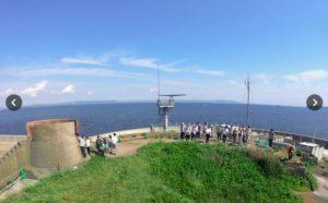 东京湾上昔日军事堡垒开禁 迎来正式旅游团