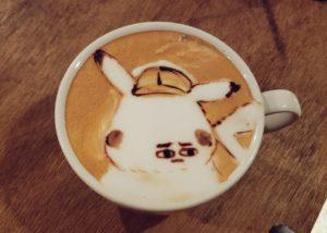 东京咖啡店拉花恶搞动画角色比卡超秒变厌世脸【附地址教你去】