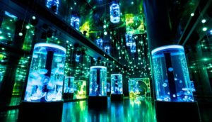 Maxell Aqua Park 品川──结合声光效果的水族馆