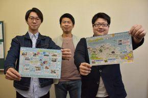 北海道小樽商大学生制作骑行地图便于观光
