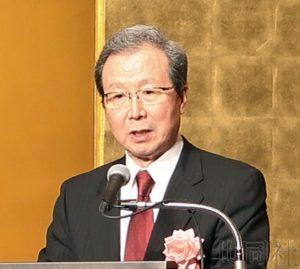 中国大使程永华举行离任招待会 安倍等政要参加