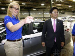 自民党总务会长考察丰田美国工厂 强调日企贡献