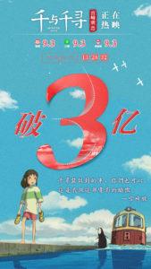"""电影《千与千寻》七日连冠破3亿!是""""情侣必看""""也是""""亲子首选"""""""