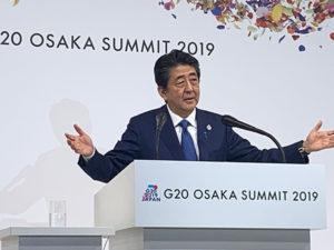 快讯:安倍称G20找到了维持自由贸易的共同点