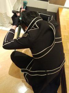 《刀剑神域》尤吉欧声优COS桐人,据说手上的道具花了15万日元