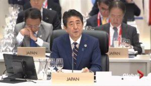 快讯:安倍称G20确认自由贸易基本原则