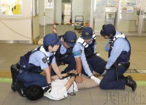 JR西日本携手警方开展反恐训练迎接G20