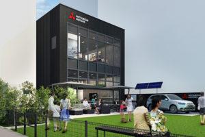 日本三菱汽车在银座新开品牌宣传门店 并设咖啡座