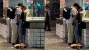 日本街头男孩飙手速抠揉私密豆女孩闭眼享受极乐天堂