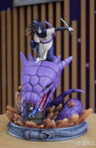 《火影忍者》大蛇丸战斗雕像 召唤巨蛇魄力逼人