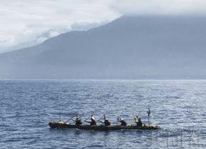 日本团队乘独木舟从台湾出发欲再现3万年前航海