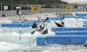 东京都展示奥运皮划艇激流回旋赛场
