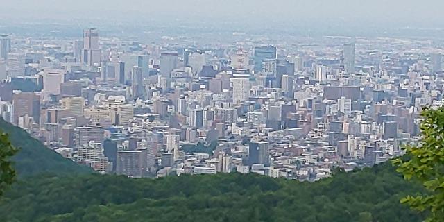 幌見峠ラベンダー園から眺める札幌市街地の絶景