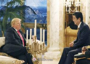 特朗普要求安倍晋三容忍朝鲜的短程导弹