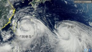 台风利奇马扑日石垣宫古岛吁10万市民避难