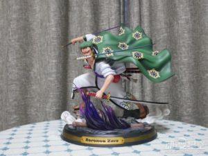 《海贼王》和之国索隆雕像 搭配路飞更有战斗气势