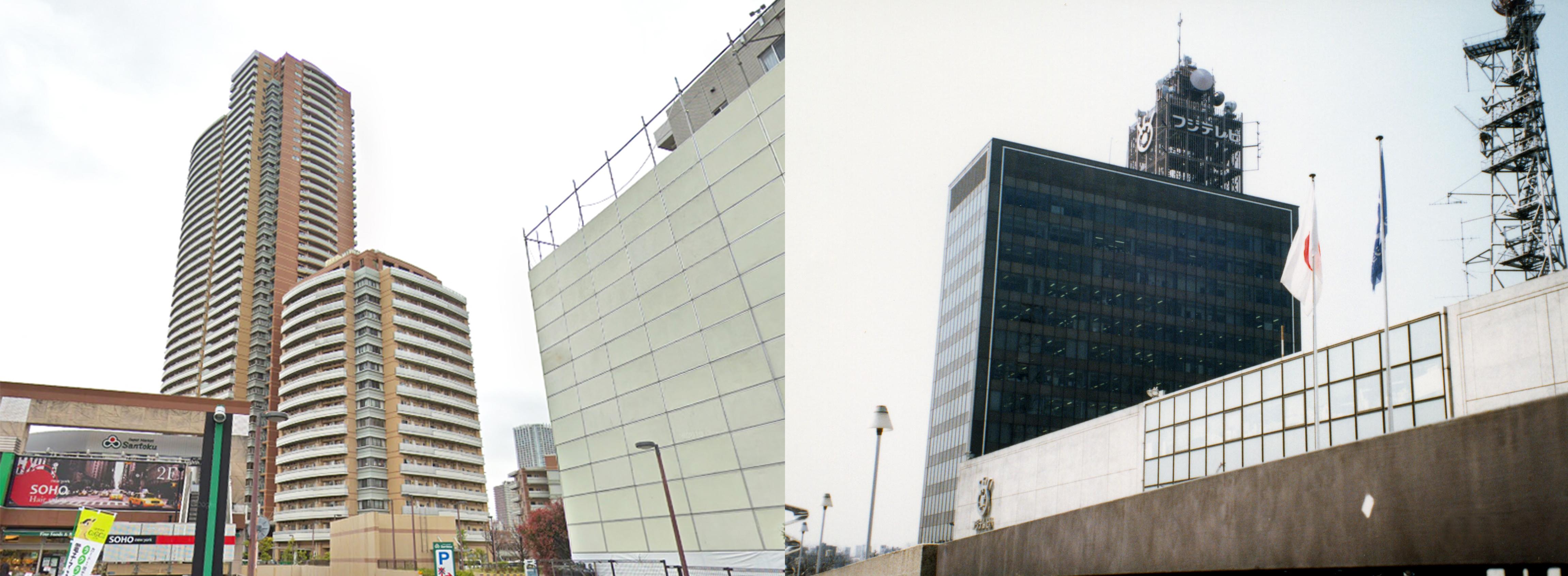 東京都新宿区河田町 旧フジテレビ社屋の今昔