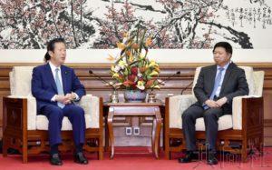 公明党党首与中联部部长会谈 确认就习近平访日合作