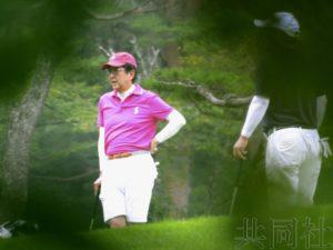 安倍在山梨再度打高尔夫休暑假