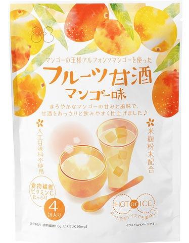 フルーツ甘酒 マンゴー味 不二食品HPから引用