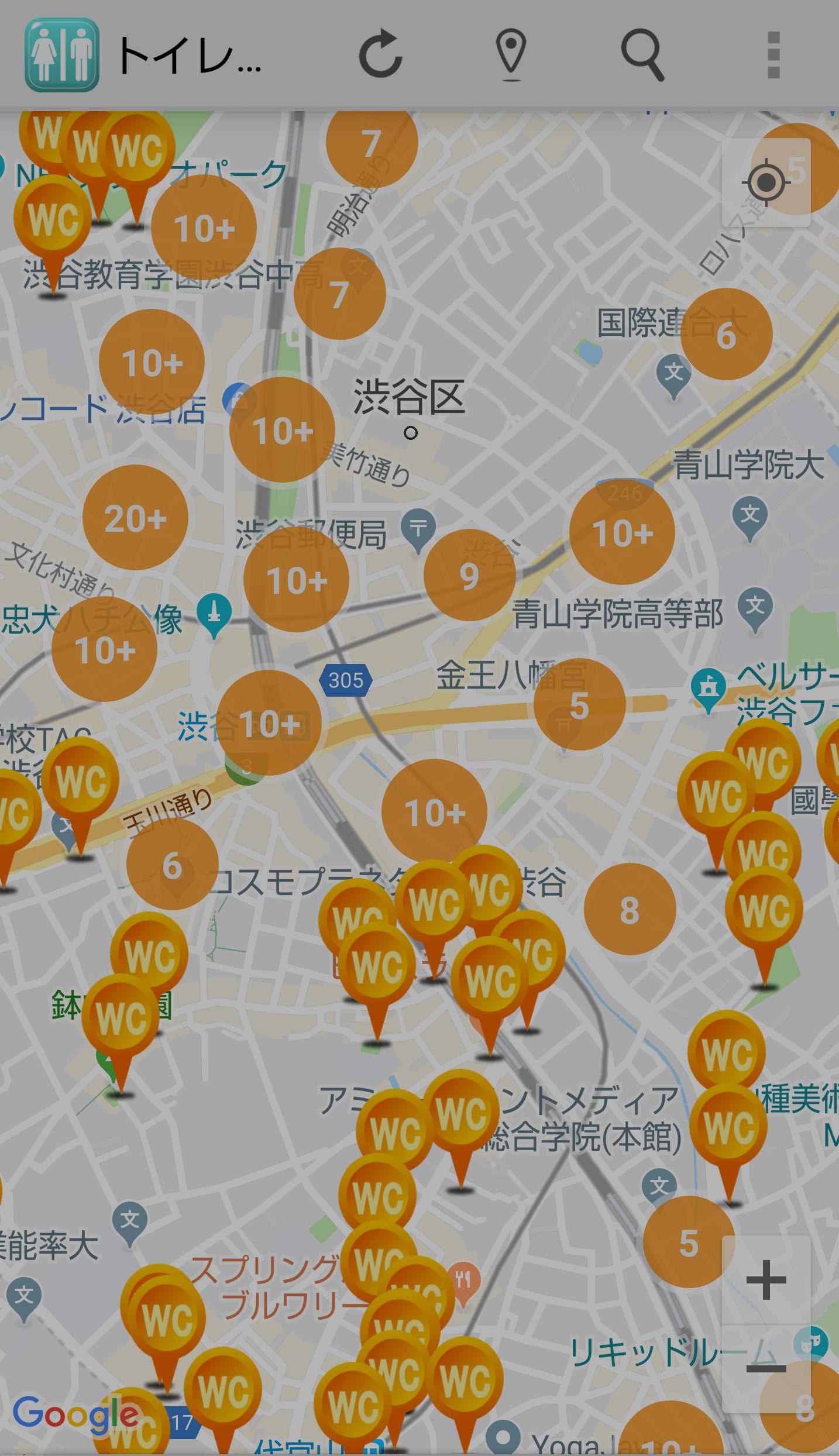 緊急時に大重宝!スマホアプリ「トイレMAP」【連載:アキラの着目】