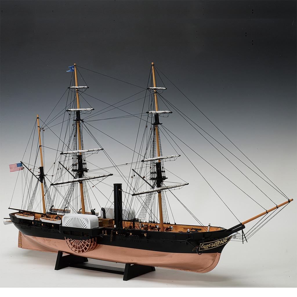 開国迫った黒船や浮世絵の宿場町等を見事に再現、木製模型キット【連載:アキラの着目】