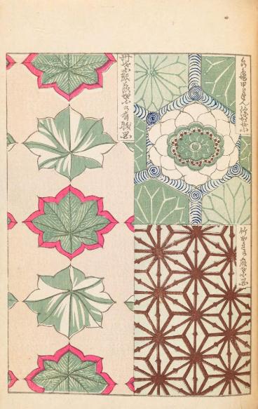 明治時代に刊行された図案集の「美術海」