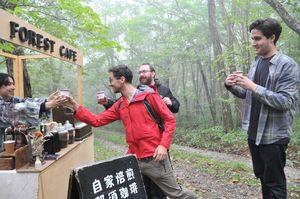 栃木日光皇族散步的森林推出咖啡小屋吸引外国游客