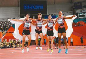 田径世锦赛/男子400接力日本破亚洲纪录
