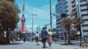 东京铁塔(港区三田1丁目済生会中央病院门口